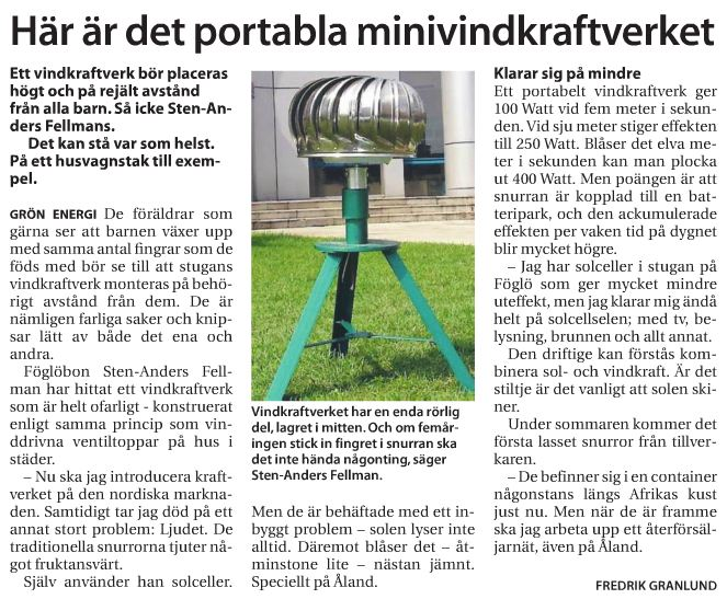 Litet vindkraftverk pris